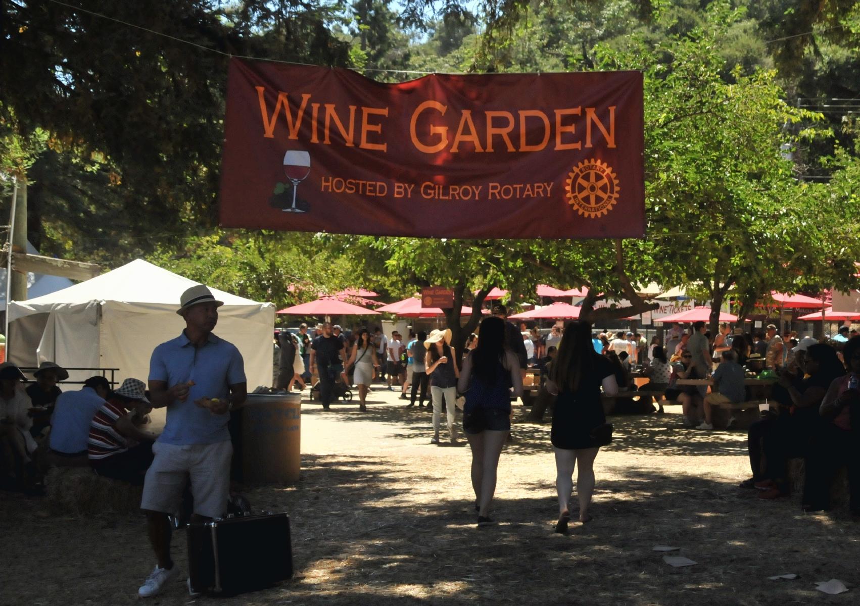 Christmas Hill Park California.Bcx News Wine Garden In The 2017 Gilroy Garlic Festival At
